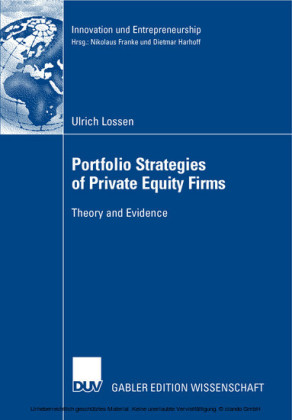 Portfolio Strategies of Private Equity Firms