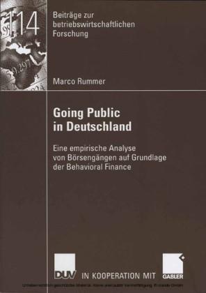 Going Public in Deutschland