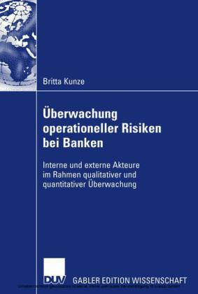 Überwachung operationeller Risiken bei Banken