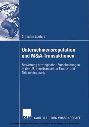 Unternehmensreputation und M&A-Transaktionen