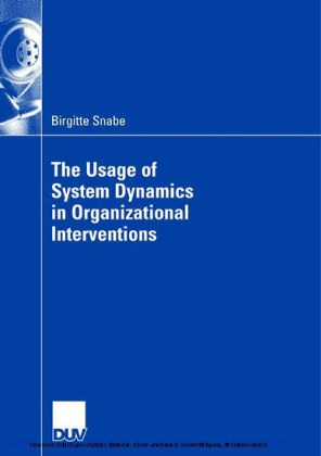 The Usage of System Dynamics in Organizational Interventions