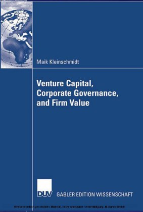 Venture Capital, Corporate Governance, and Firm Value