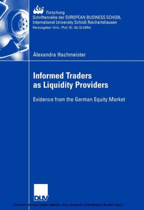 Informed Traders as Liquidity Providers