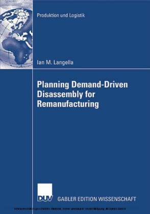 Planning Demand-Driven Disassembly for Remanufacturing