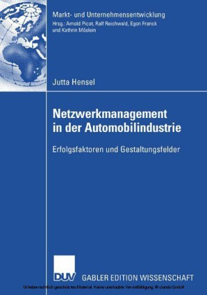Netzwerkmanagement in der Automobilindustrie