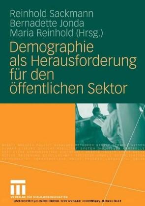Demographie als Herausforderung für den öffentlichen Sektor