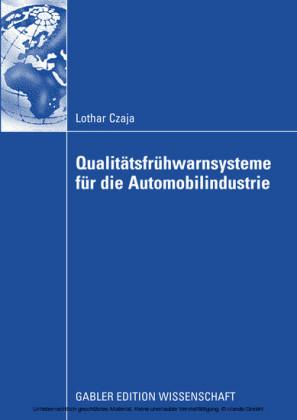 Qualitätsfrühwarnsysteme für die Automobilindustrie
