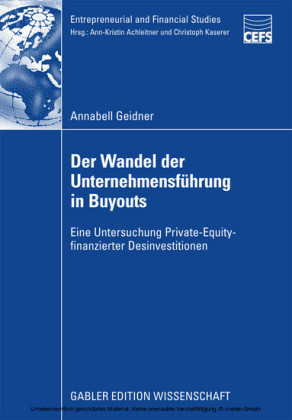 Der Wandel der Unternehmensführung in Buyouts