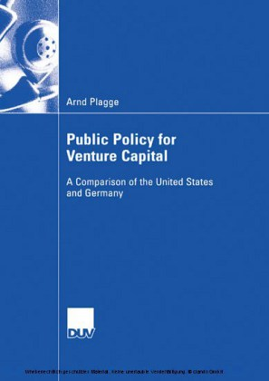 Public Policy for Venture Capital