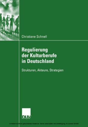 Regulierung der Kulturberufe in Deutschland