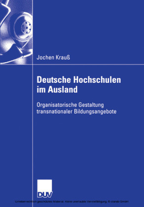 Deutsche Hochschulen im Ausland