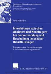 Interaktionen zwischen Anbietern und Nachfragern bei der Vermarktung und Beschaffung innovativer Dienstleistungen