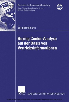 Buying Center-Analyse auf der Basis von Vertriebsinformationen