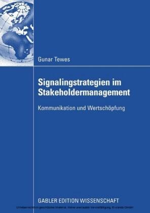 Signalingstrategien im Stakeholdermanagement