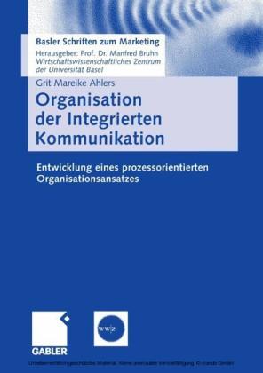 Organisation der Integrierten Kommunikation