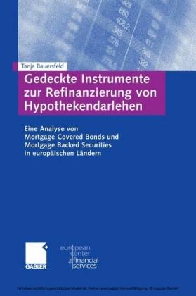 Gedeckte Instrumente zur Refinanzierung von Hypothekendarlehen