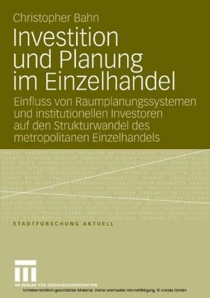 Investition und Planung im Einzelhandel