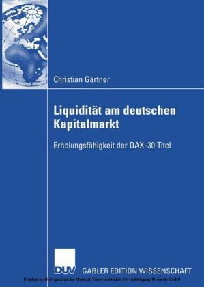 Liquidität am deutschen Kapitalmarkt