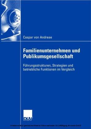 Familienunternehmen und Publikumsgesellschaft