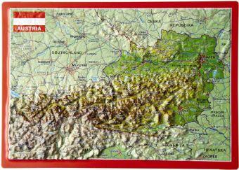 Austria. Österreich, Reliefpostkarte