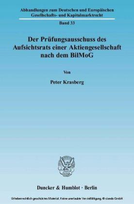 Der Prüfungsausschuss des Aufsichtsrats einer Aktiengesellschaft nach dem BilMoG.