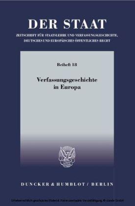 Verfassungsgeschichte in Europa.