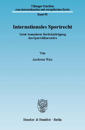Internationales Sportrecht