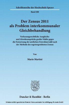 Der Zensus 2011 als Problem interkommunaler Gleichbehandlung.