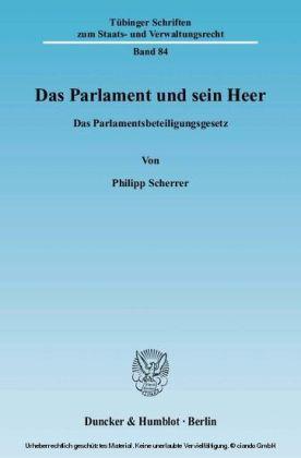 Das Parlament und sein Heer.