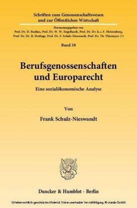 Berufsgenossenschaften und Europarecht.