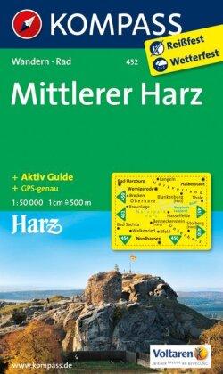 KOMPASS Wanderkarte Mittlerer Harz