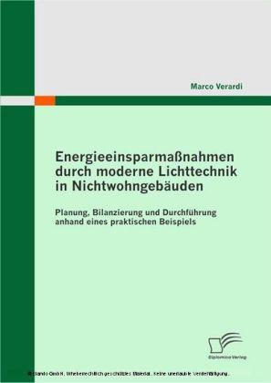 Energieeinsparmaßnahmen durch moderne Lichttechnik in Nichtwohngebäuden. Planung, Bilanzierung und Durchführung anhand eines praktischen Beispiels