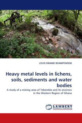 Heavy metal levels in lichens, soils, sediments and water bodies