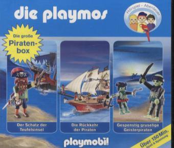 Die Playmos - Die große Piraten-Box, 3 Audio-CDs