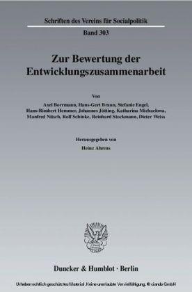 Zur Bewertung der Entwicklungszusammenarbeit.