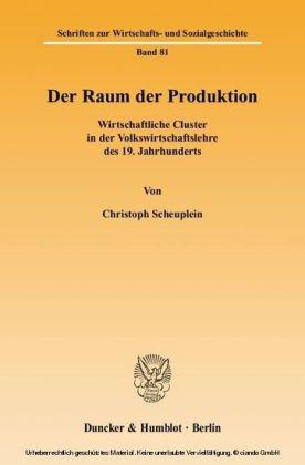 Der Raum der Produktion.