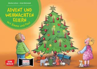 Advent und Weihnachten feiern mit Emma und Paul, Kamishibai Bildkartenset
