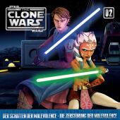 Star Wars, The Clone Wars - Der Schatten der Malevolence - Die Zerstörung der Malevolence, 1 Audio-CD Cover