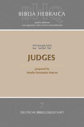 Biblia Hebraica Quinta (BHQ), Judges