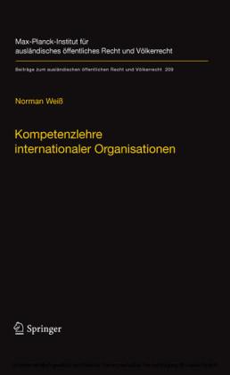 Kompetenzlehre internationaler Organisationen