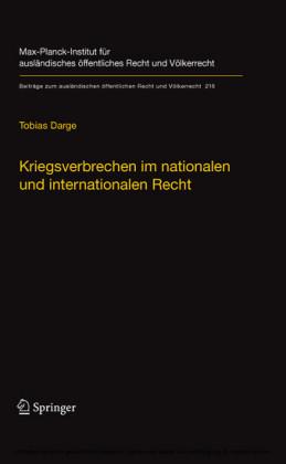 Kriegsverbrechen im nationalen und internationalen Recht