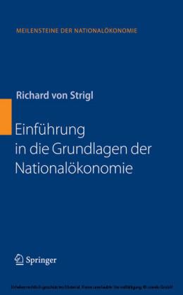 Einführung in die Grundlagen der Nationalökonomie