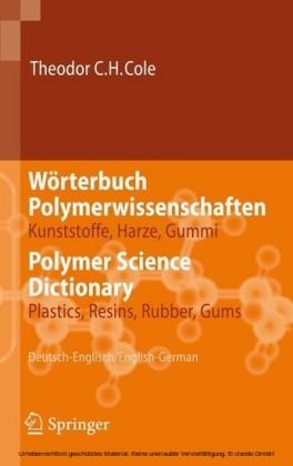 Wörterbuch Polymerwissenschaften/Polymer Science Dictionary