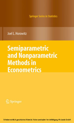 Semiparametric and Nonparametric Methods in Econometrics