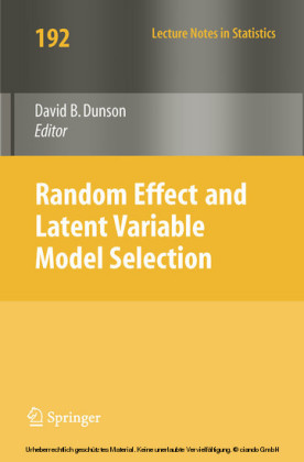 Random Effect and Latent Variable Model Selection