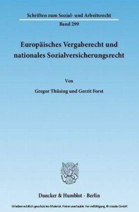 Europäisches Vergaberecht und nationales Sozialversicherungsrecht