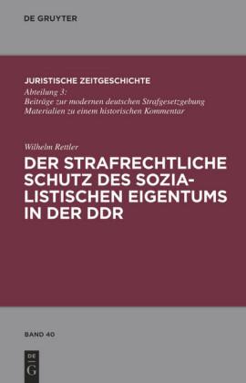 Der strafrechtliche Schutz des sozialistischen Eigentums in der DDR