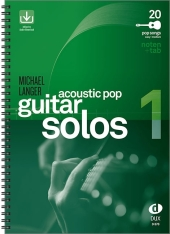 Acoustic Pop Guitar Solos, m. Audio-CD Cover