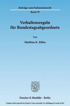 Verhaltensregeln für Bundestagsabgeordnete.