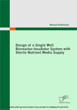 Design of a Single Well Bioreactor-Incubator System with Sterile Nutrient Media Supply